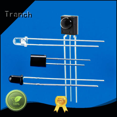 Tranch ir transmitter led emission reception for multimedia equipment