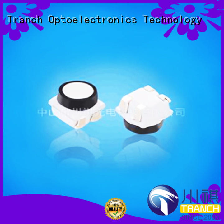 Tranch white smd led chip black shell for brightening